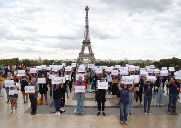 Una protesta del movimiento 'Nous Toutes' en París, Francia (archivo)