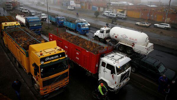 Distribución de combustible La Paz, El Alto en Bolivia - Sputnik Mundo
