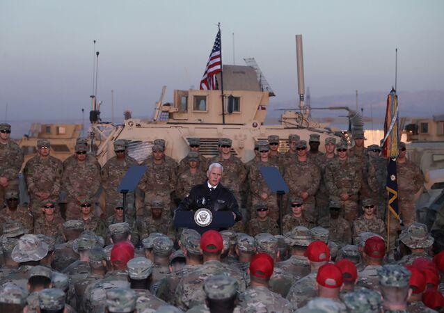 Mike Pence, vicepresidente de EEUU en su visita a Kurdistán iraquí