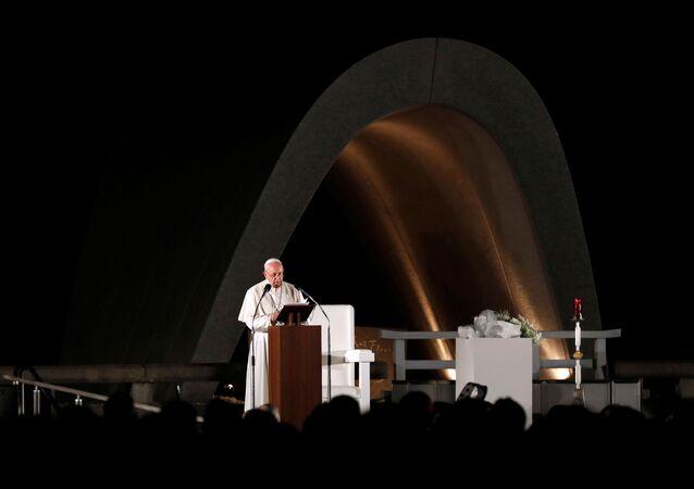 Papa Francisco en Nagasaki, Japón