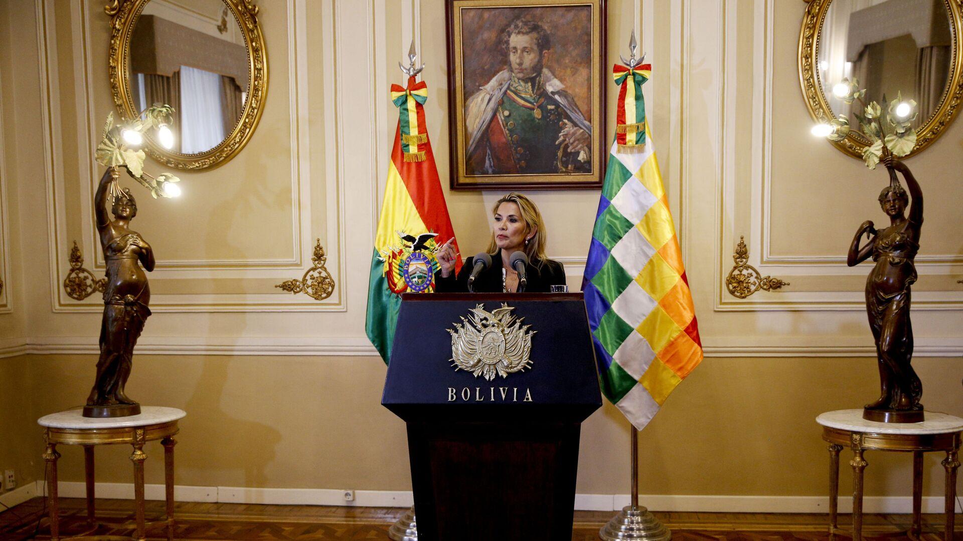 Jeanine Áñez, presidenta de facto de Bolivia - Sputnik Mundo, 1920, 09.07.2021