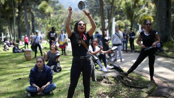 Protestas en Bogotá, Colombia (archivo) - Sputnik Mundo