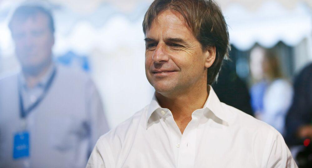 Luis Lacalle Pou, candidato presidencial uruguayo