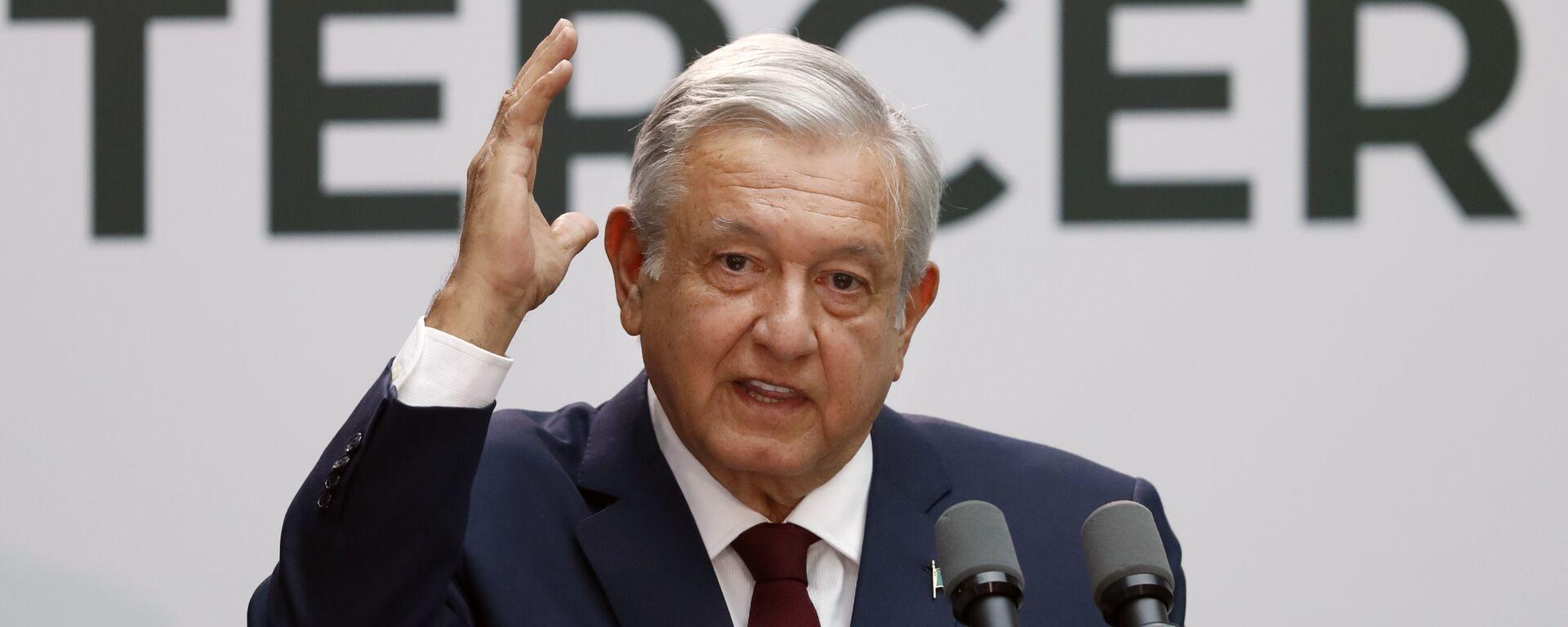 Andrés Manuel López Obrado, presidente mexicano - Sputnik Mundo, 1920, 24.08.2021