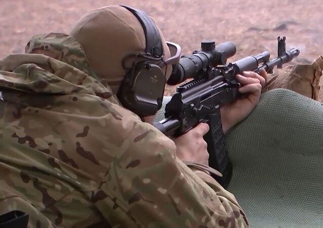 Los mejores momentos del campeonato de tiro táctico entre militares rusos
