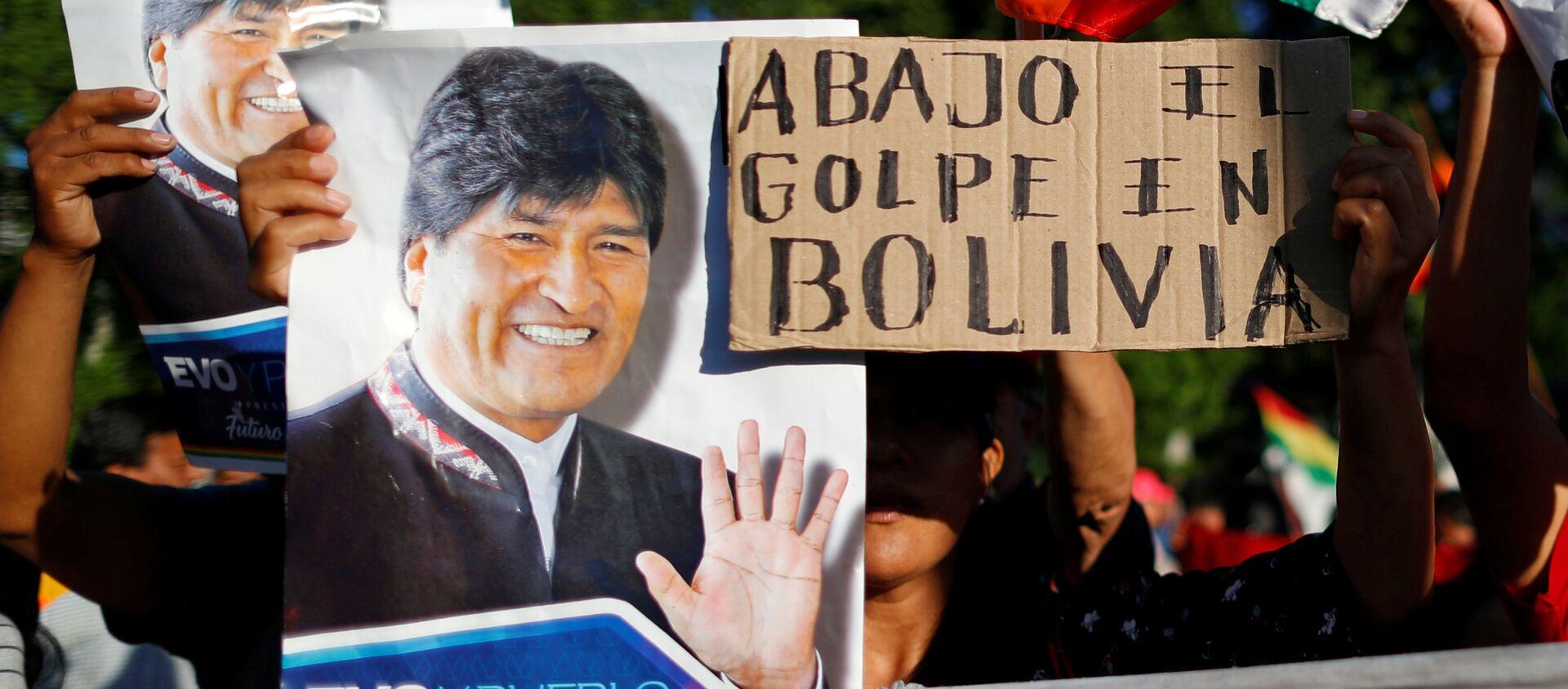 Partidarios de Evo Morales en Bolivia - Sputnik Mundo, 1920, 26.11.2019