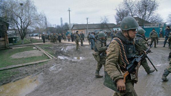 Soldados rusos en Chechenia - Sputnik Mundo