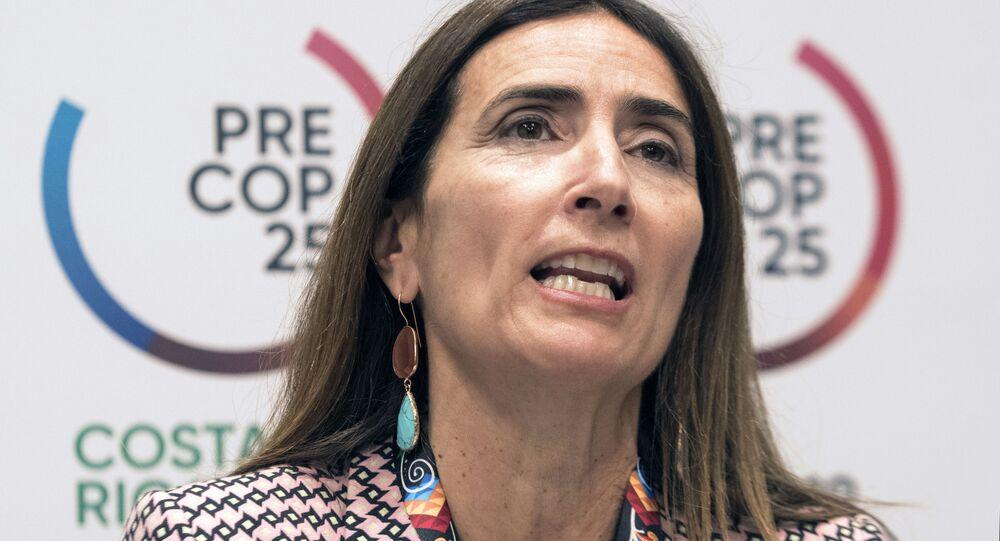 Carolina Schmidt, la ministra de Medio Ambiente chilena