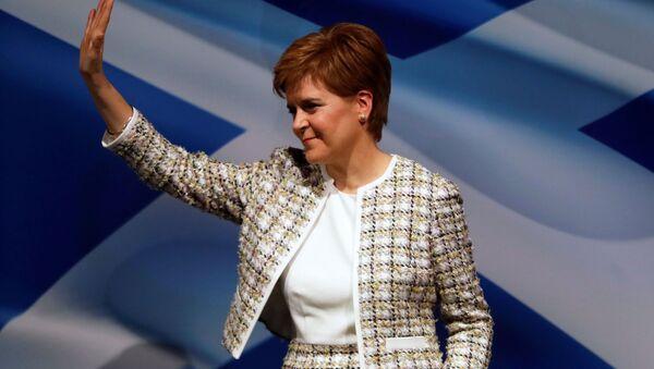 Nicola Sturgeon, la jefa del Gobierno escocés  - Sputnik Mundo