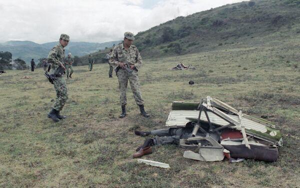 Los escombros del avión de Avianca, a las afueras de Bogotá - Sputnik Mundo