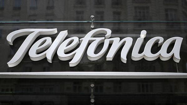 Logo de Telefónica  - Sputnik Mundo