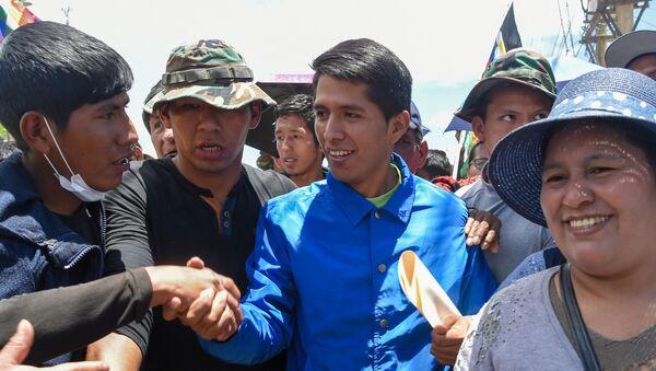 Andrónico Rodríguez, político y dirigente cocalero boliviano  - Sputnik Mundo