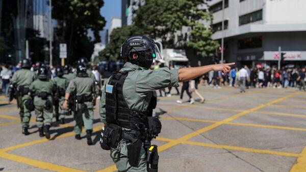 Policía de Hong Kong - Sputnik Mundo