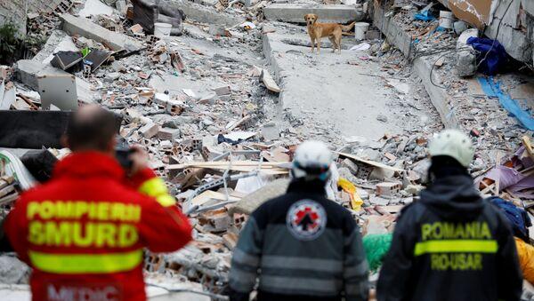 Consecuencias del terremoto en Albania - Sputnik Mundo