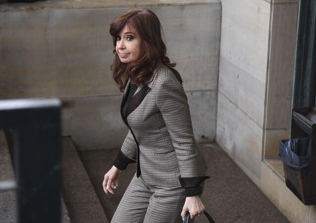 Cristina Fernández, la vicepresidenta electa de Argentina