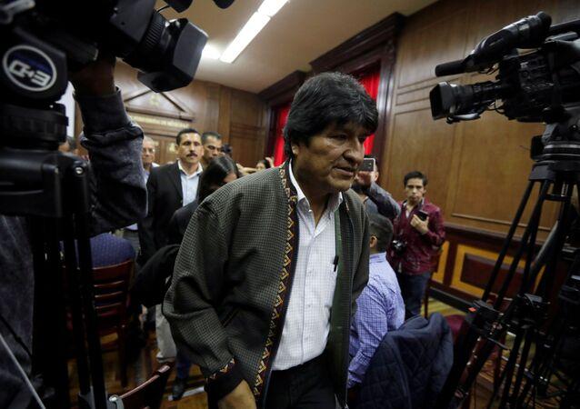 Evo Morales, el expresidente boliviano