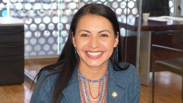 Diana Atamaint, presidenta del Consejo Nacional Electoral de Ecuador - Sputnik Mundo