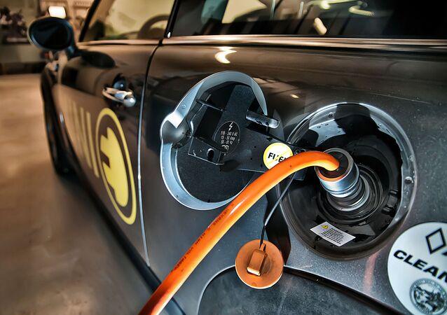Un automóvil electrico (imagen referencial)