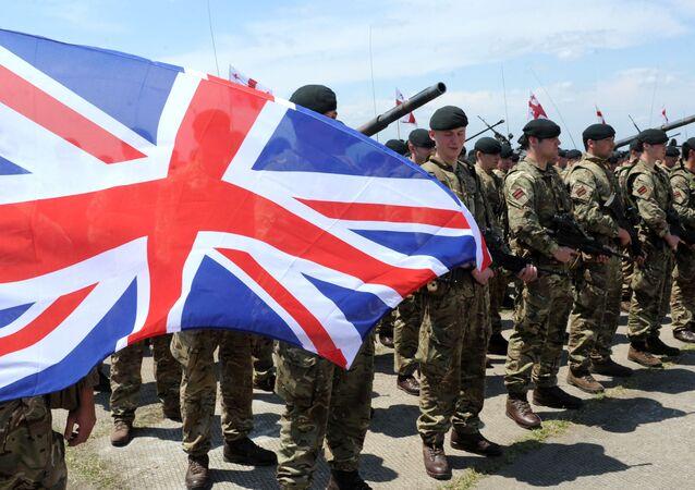 Militares británicos participan en maniobras militares en Georgia (archivo)
