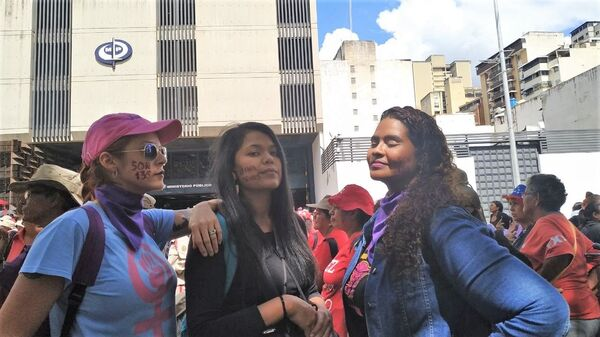 Marcha contra la violencia de género en Caracas, Venezuela - Sputnik Mundo