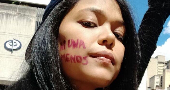 Ni una menos - marcha contra la violencia de género en Caracas