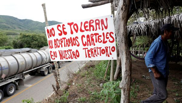 Un mensaje para los carteles en un municipio de México - Sputnik Mundo