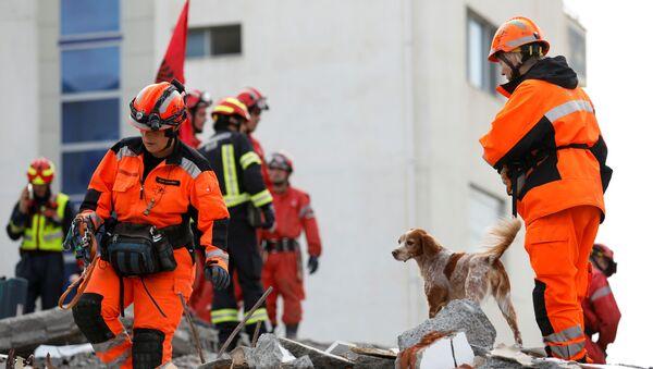 Operación de rescate tras el terremoto en Albania - Sputnik Mundo