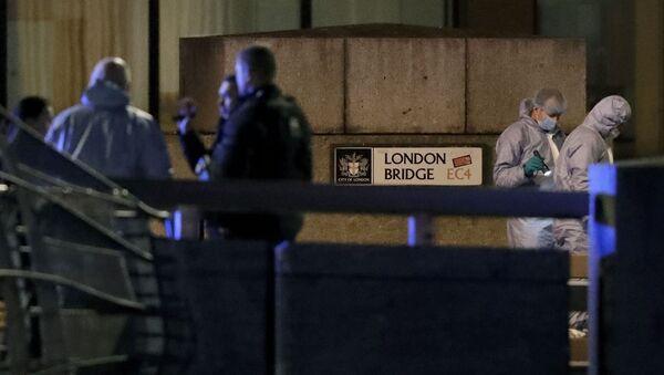 El lugar del ataque terrorista en el Puente de Londres - Sputnik Mundo