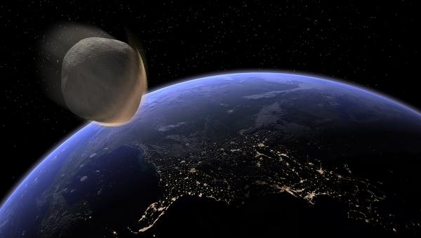 Un asteroide se acerca a la Tierra (imagen referencial) - Sputnik Mundo