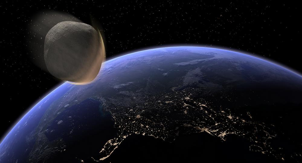 Un asteroide se acerca a la Tierra (imagen referencial)