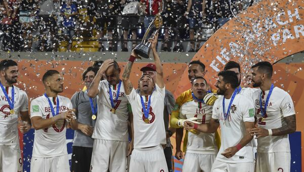 Equipo portugués de fútbol playa - Sputnik Mundo