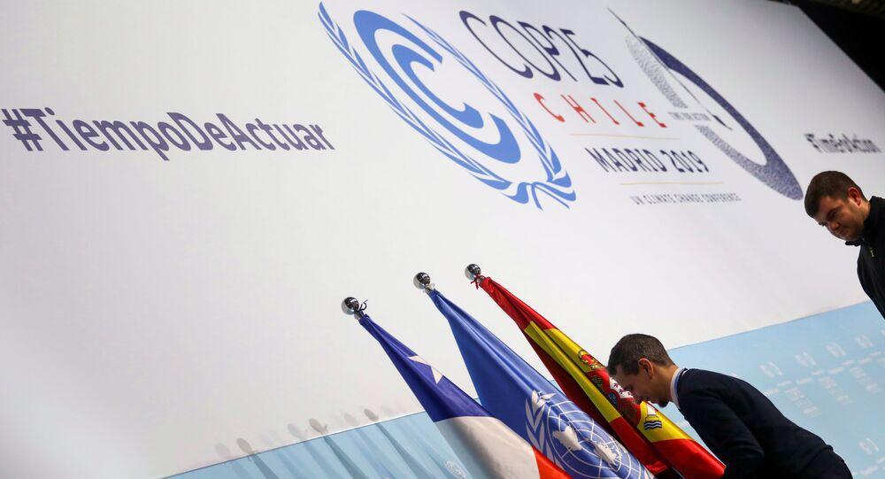 Cumbre de COP25 sobre el cambio climático en Madrid, España