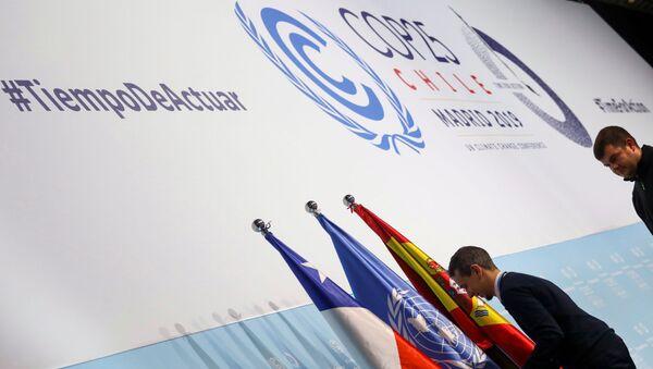 Cumbre de COP25 sobre el cambio climático en Madrid, España - Sputnik Mundo