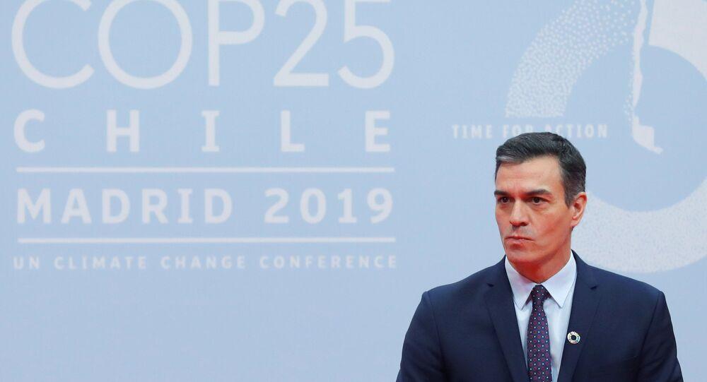 Pedro Sánchez en la inauguración de COP25