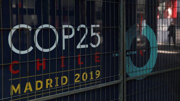 Logo de la Cumbre del Clima (COP25) en Madrid - Sputnik Mundo