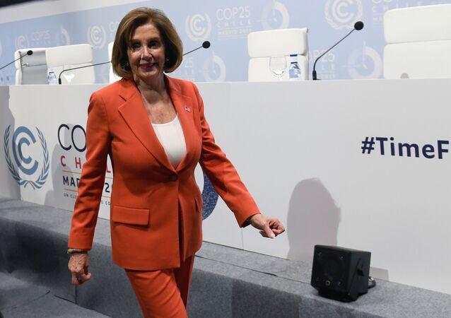 Nancy Pelosi, la presidenta de la Cámara de Representantes de EEUU