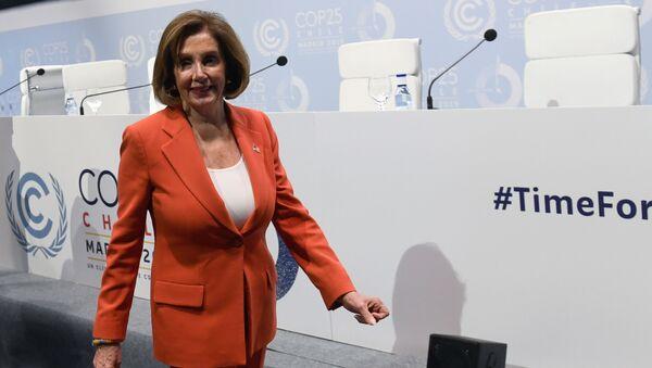 Nancy Pelosi, la presidenta de la Cámara de Representantes de EEUU - Sputnik Mundo