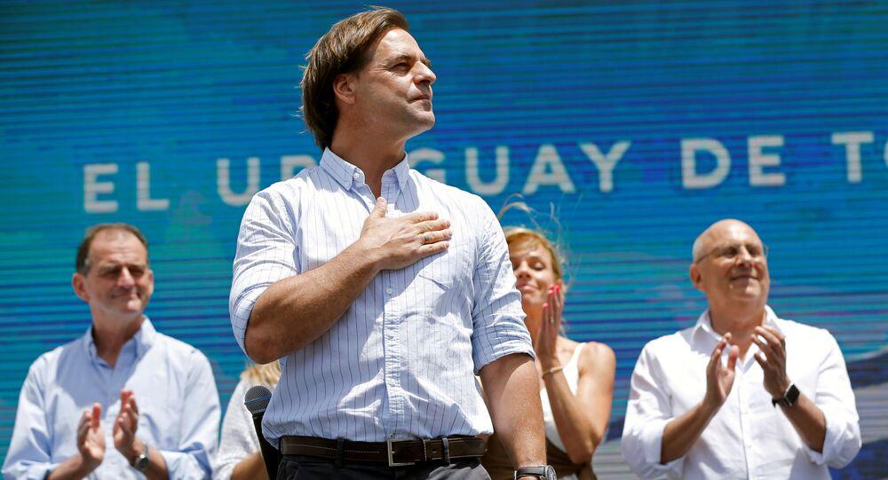 Luis Lacalle Pou, presidente electo de Uruguay