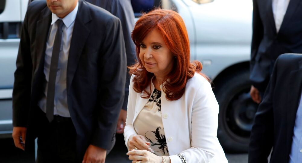 Cristina Fernández, vicepresidenta electa de Argentina