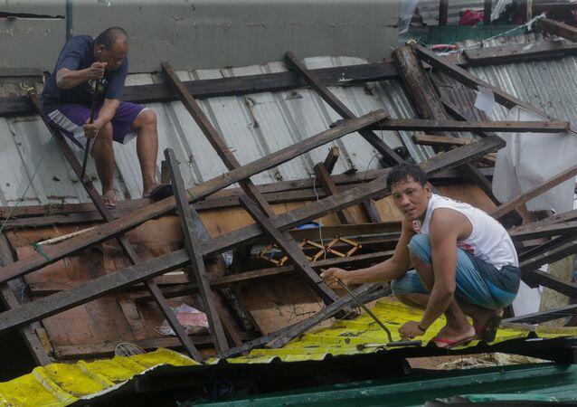 Consecuencias de un tifón en Filipinas