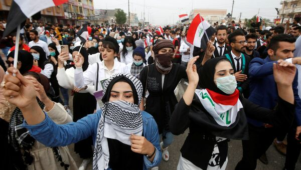 Protestas antigubernamentales en Irak - Sputnik Mundo
