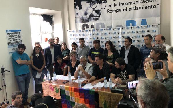 La Delegación Argentina en solidaridad con el Pueblo Boliviano presentó un lapidario informe sobre los abusos del Gobierno de facto - Sputnik Mundo