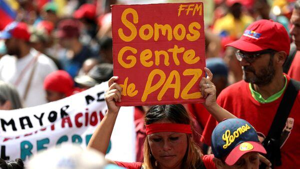 Marcha oficialista en Caracas, Venezuela - Sputnik Mundo
