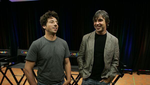 Serguéi Brin y Larry Page, cofundadores de Google - Sputnik Mundo