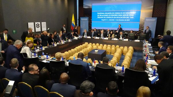 El encuentro de los miembros del TIAR en Bogotá - Sputnik Mundo