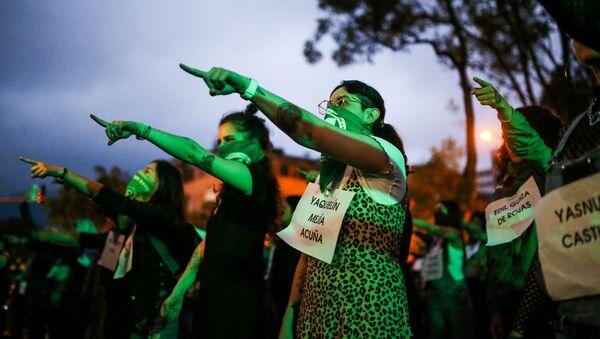 Protestas contra femicidios - Sputnik Mundo
