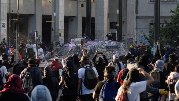 Protestas en Concepción, Chile - Sputnik Mundo