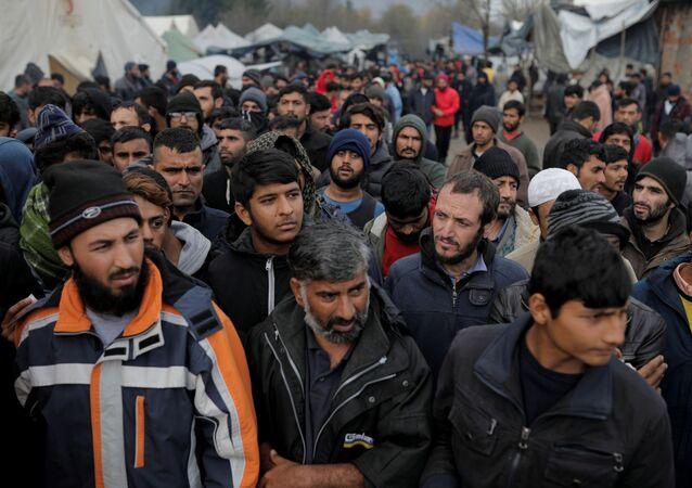 Migrantes en la frontera con Croacia