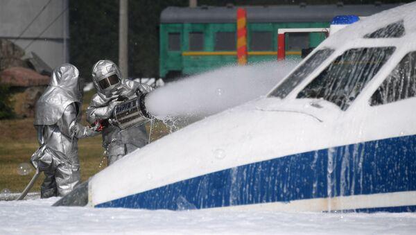 Ejercicios del Ministerio de Emergencias ruso - Sputnik Mundo