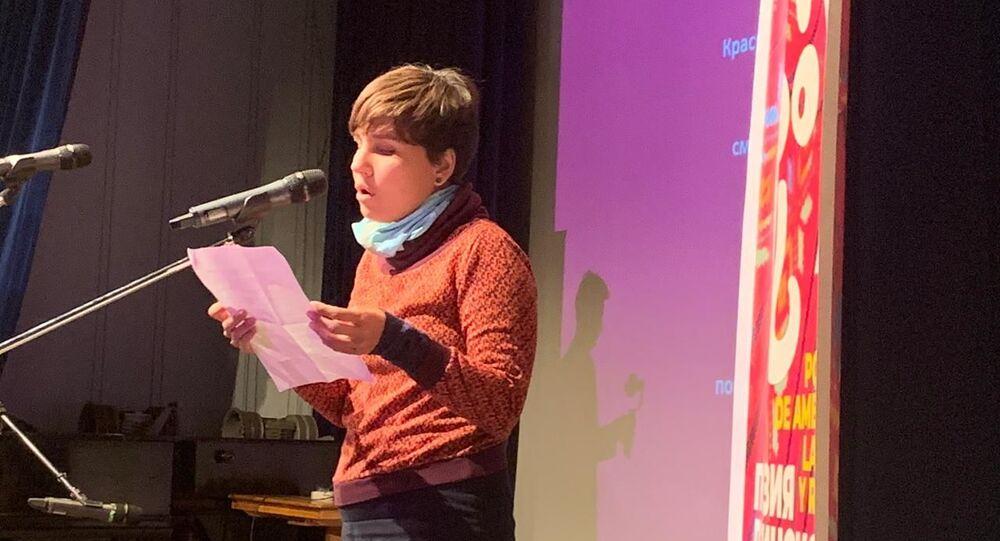 Jamila Medina Ríos en la XI edición del Festival internacional 'Bienal de Poesía en Moscú'